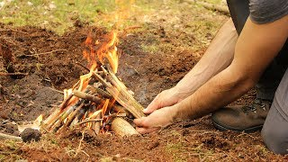 How to Light a Campfire with Natural Materials and a Ferro Rod