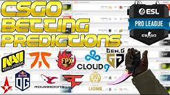 CS:GO Betting Predictions - ESL Pro League Finals EU & NA and Flashpoint Series 1