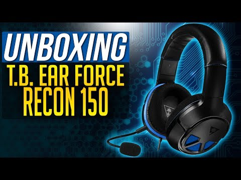 TURTLE BEACH RECON 150 UNBOXING Gaming Headset PS4 / PS4 PRO Turtle Beach Ear Force Recon 150