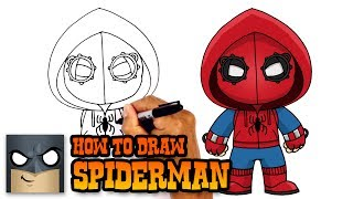 How to Draw Spiderman Homecoming | Drawing Tutorial