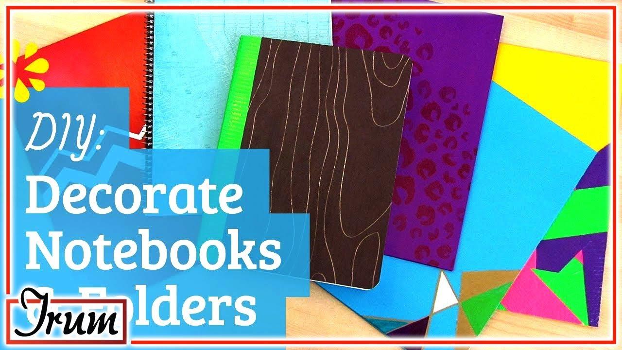 Folder Decoration Ideas For Kids Youtube