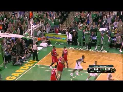 Paul Pierce Rajon Rondo combined 44 points vs Atlanta Hawks full highlights NBA Playoffs 2012.05.06