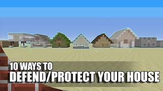10 Ways To Defend/Protect Your House In Minecraft!