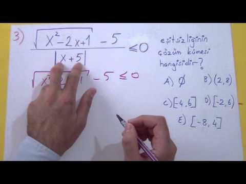 Mutlak Değer Soru Çözümü Şenol Hoca Matematik