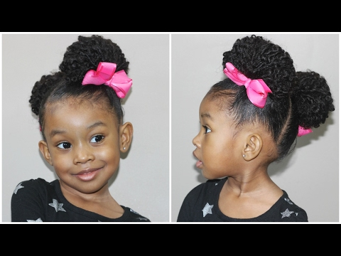 Diagonal Part Hairstyle | Cute Hairstyles for Little Girls
