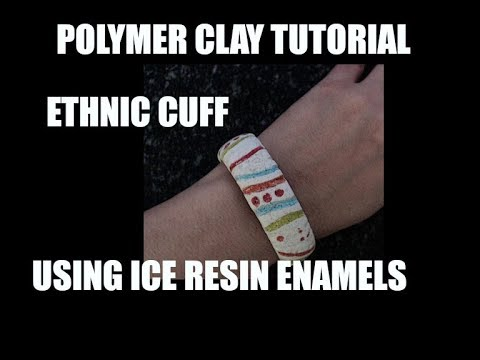376 Faux ceramic cuff using Ice Resin enamels