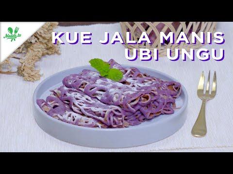 KUE JALA (JARING LABA-LABA) MANIS UBI UNGU