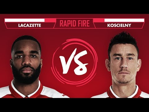 USAIN BOLT, THIERRY HENRY & REAL MADRID | Koscielny vs Lacazette Rapid Fire