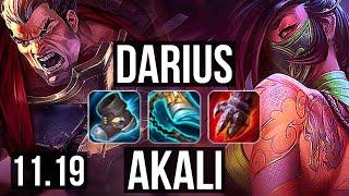 DARIUS vs AKALI (TOP) | Quadra, 1900+ games, 1.6M mastery, Legendary | BR Master | v11.19