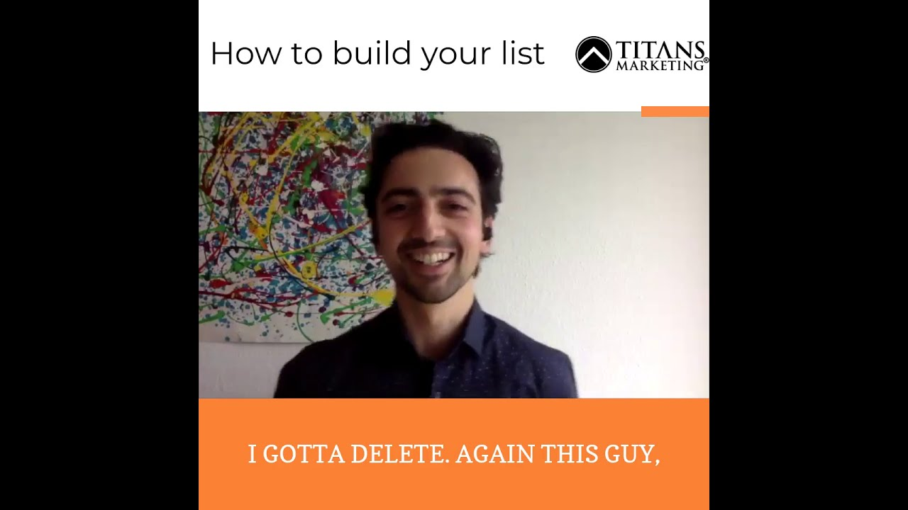 What is important about list building?