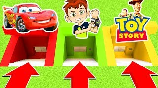 DO NOT CHOOSE THE WRONG SECRET BASE (CARS, BEN 10, TOY STORY) (Ps3/Xbox360/PS4/XboxOne/PE/MCPE)