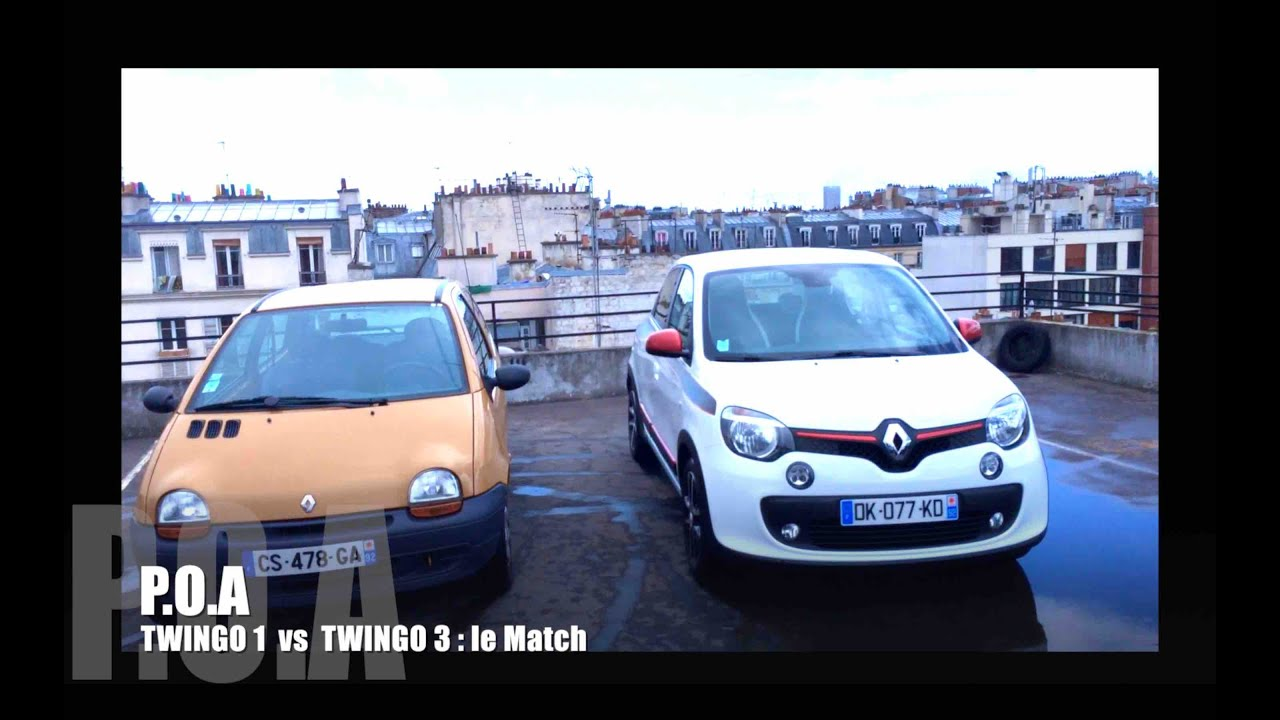 nouvelle renault twingo 3 2014 le match avec la twingo 1 2 2 youtube. Black Bedroom Furniture Sets. Home Design Ideas
