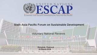 APFSD 6 : Voluntary National Reviews