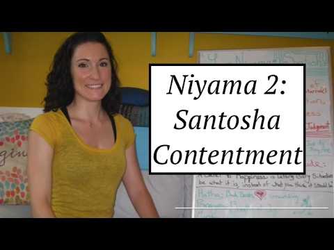 """Yoga Board"" Niyama 2: Santosha: Contentment- LauraGyoga"