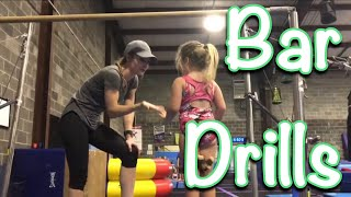 How to Coach Beginner Gymnastics Bars : Drill Stations