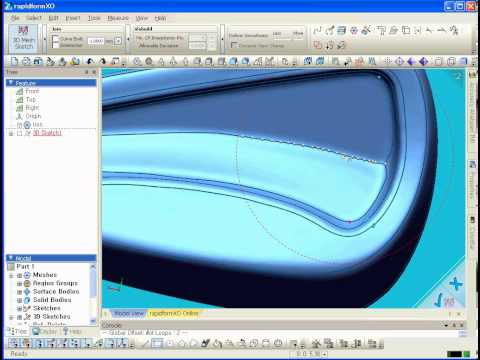 Learning Rapidform ---Surface Modeling Boundary Fit