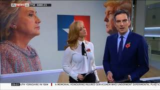 Sarah-Jane Mee in see through blouse | Sky News | 20161102