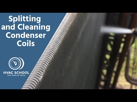 Splitting and Cleaning Condenser Coils
