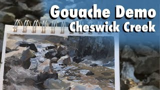 Taking Risks, Following Through with Gouache | Plein Air Sketch Painting Demo