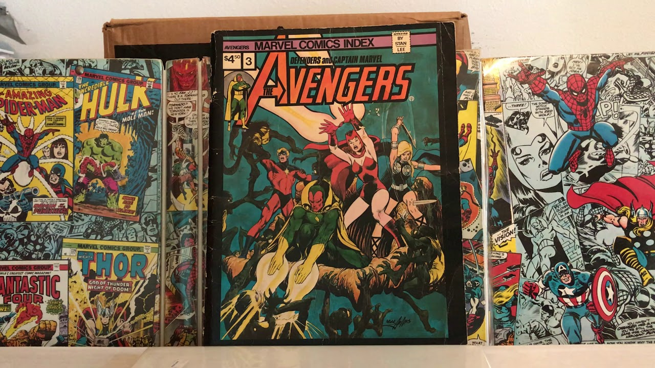 Complete set of the Marvel Comic Indexes from the 70's and early 80's  (magazine sized)