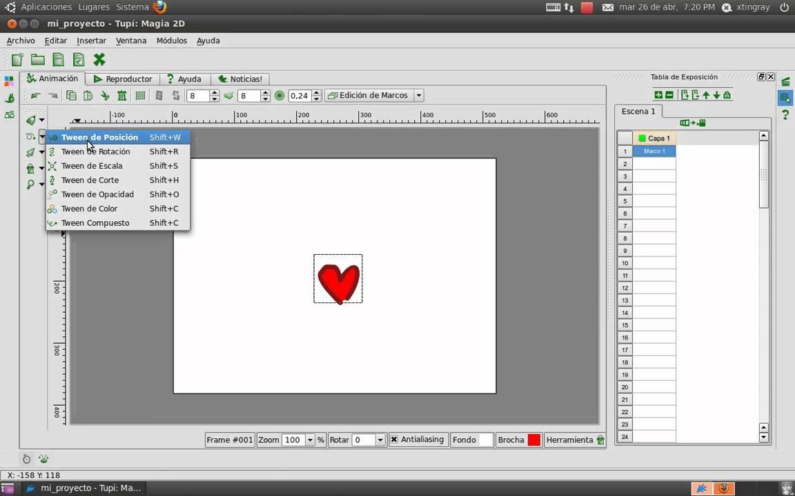 Tutorial Tupi] - Corazón - Software de animacion 2D para ...