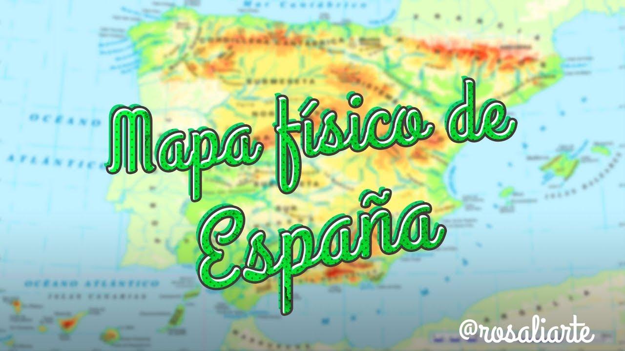 Mapa Relieve De España Para Niños.Mapa Fisico De Espana 1º Eso