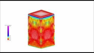 Strain rate effect of concrete with SPH (Smoothed particle hydrodynamics) (Full HD 60FPS)