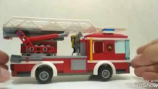 Обзор на набор Лего Сити пожарный автомобиль с лестницей 60107