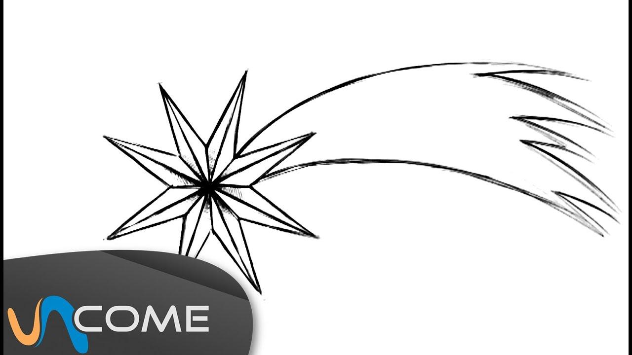 Come disegnare una stella cadente per Natale - YouTube