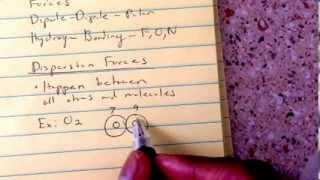 General Chemistry Chapter 12, Van der Waal Forces Part 1