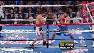 round 3 highlights manny pacquiao vs juan manuel marquez iii