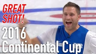 John Morris & Kevin Koe - Final shots for NA win - 2016 World Financial Group Continental Cup