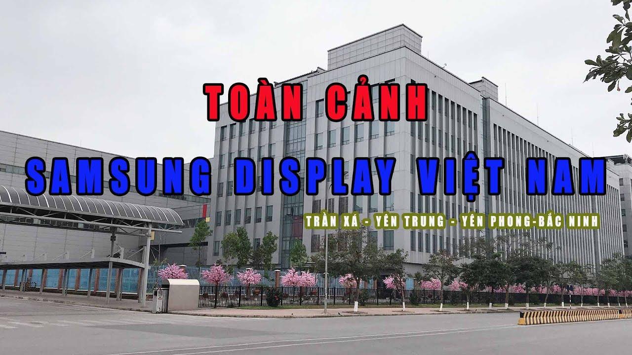 Quang cảnh con đường đi bộ ngắm KCN Samsung display Việt Nam Ngày tết 2020