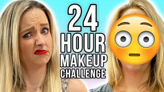 Wearing 24 Hour Makeup for 24 HOURS! What happened to our SKIN?!