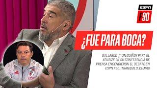 ¡TRANQUILO, CHAVO! #Gallardo ¿y un guiño a #Boca? encendieron un CALIENTE DEBATE en #ESPNF90