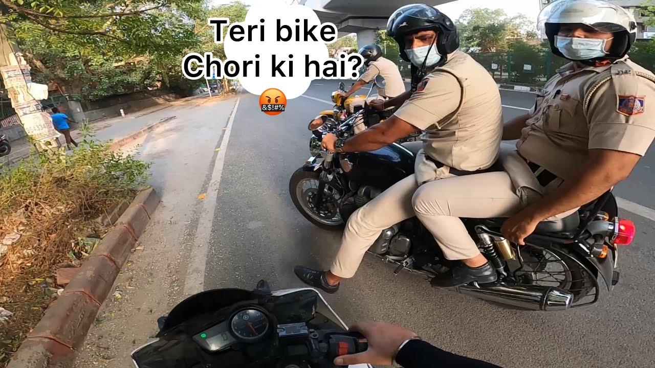 Biker Vs Delhi Police 👮♀️ Extreme Road Rage 😡 Riding is not a Crime