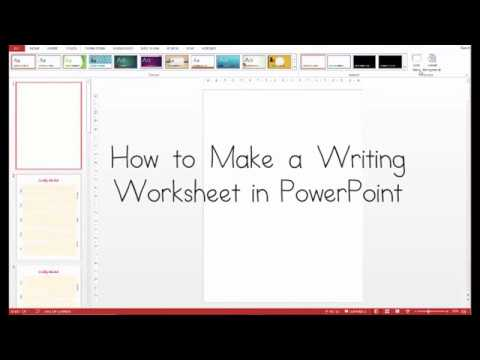 How to Create a Writing Worksheet in PowerPoint