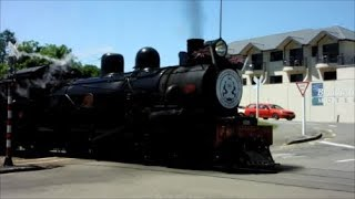 The Marlborough Flyer Steam Locomotive in Picton New Zealand