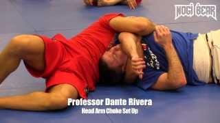 Dante Rivera • Head Arm Choke Set Up at South Jersey Brazilian Jiu-Jitsu • Nogi Bear™ MMA BJJ UFC