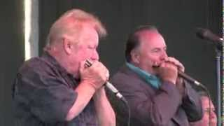 "Downchild Blues Band: ""Duelling Harmonicas"", Southside Shuffle, Port Credit, Toronto 2013"