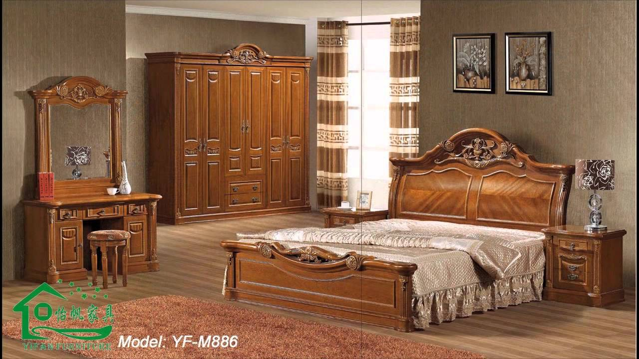 Wood Furniture Design all wood bedroom furniture sets - youtube