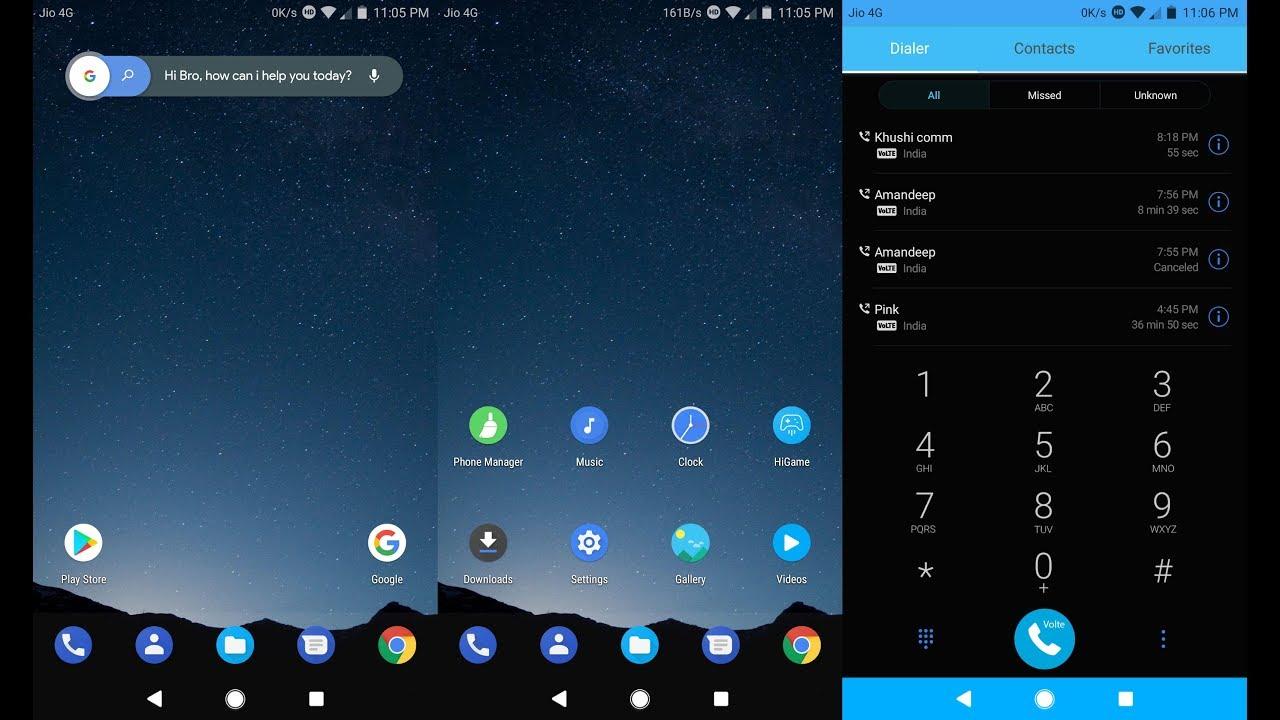 Dark Android OREO | EMUI 5 Theme - YouTube