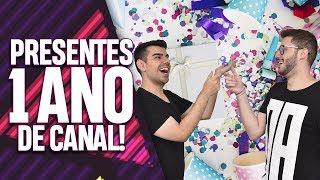 RECEBIDOS: PRESENTES DE ANIVERSÁRIO DO CANAL! EP. 073