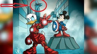 When Disney Met Marvel. Hillariously Funny Comics & Art.
