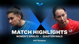 Elizabet Abraamian vs Polina Mikhailova | WTT Contender Budapest 2021 (1/4)