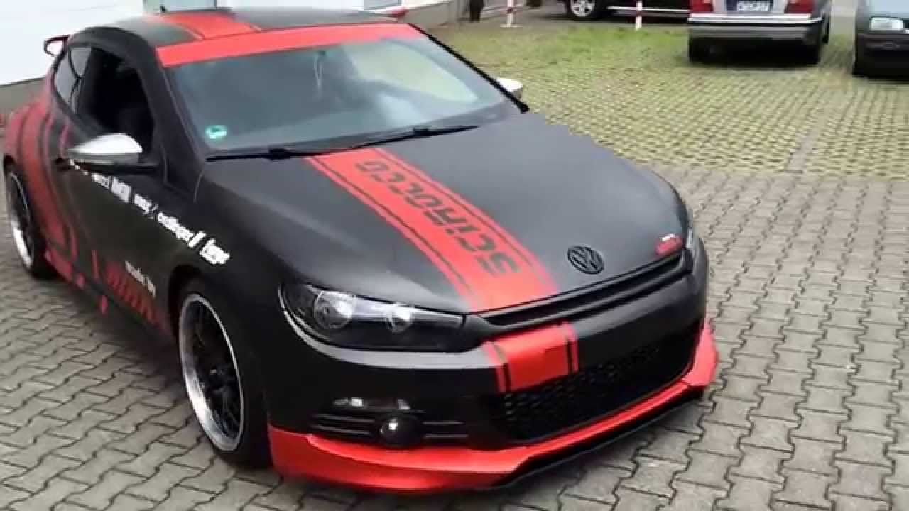 VW Scirocco Fullcarwrap Yokohama Design - YouTube