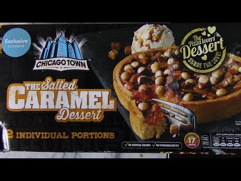 Chicago Town Caramel Dessert Pizza Review Iceland