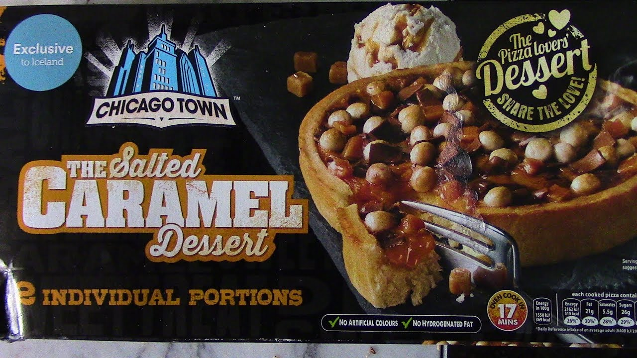 Chicago Town Caramel Dessert Pizza Review Iceland Exclusive