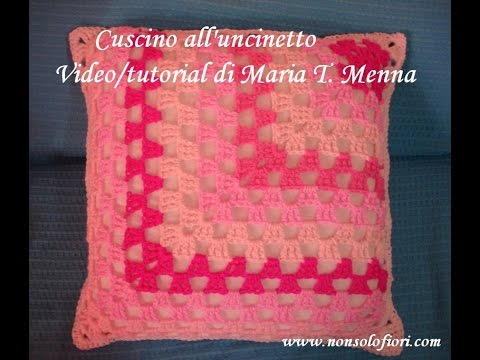 Cuscino Uncinetto Pillow Crocheted Youtube