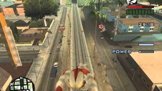 Grand Theft Auto Sand Andreas Ultraman mod - flying ultra brothers + transformation + superpower